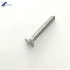 Oval head slotted countersink coarse thread self tapping screw